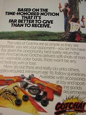 "1987 Entertech GOTCHA ! Original Print Ad-8.5 x 10.5 ""-Early Paint Gun Game ?"