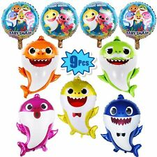 9 Pcs Baby Shark Foil Balloons Birthday Party Decorations Supplies