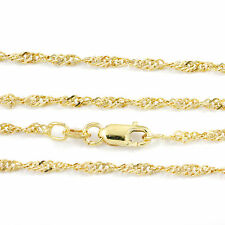 """16-24"""" 1.95mm 10k Yellow Singapore Chain,(NEW solid Italian necklace) #2308"""