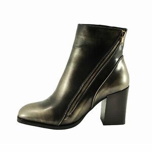 Pierre Dumas CAMMY-2 Gold Women's Chunky Heel Ankle Booties 89895