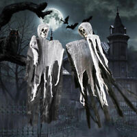 Skull Halloween Hanging Ghost Haunted House Grim Reaper Horror Props Decor KY