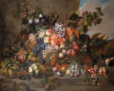 """perfect 24x20 oil painting handpainted on canvas """"Still Life with Fruit """"@N14225"""