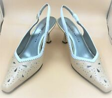 ROLAND CARTIER LADIES LEATHER SHOES CHARISMA CAMEL/WHITE SLING BACK UK7