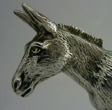 More details for quality english silver plated donkey mule animal figure c1950s 348g