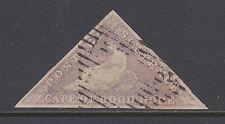 Cape of Good Hope Sc 5, SG 7 used 1858 6p Hope Seated Triangular, Die B, VF