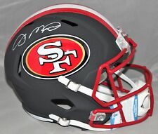 aa19b6de5ce Joe Montana Autographed NEW Riddell Black Matte SF 49ers FS Replica Helmet  JSA