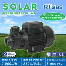 DC Solar Water Above-Ground Vortex Pump Surface Irrigation Farm Garden 210W 24V