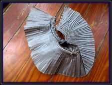 Antique French Edwardian Tiniest Pleated Silk Taffeta Silvery Gray Trim