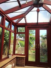 conservatory sun room dark wood good used condition attractive 11.35ft by 8.53ft