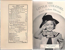 THE LITTLE COLONEL Shirley Temple Ed. (1935) A.L. Burt HC illustrated w/ photos