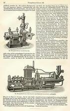 DAMPFMASCHINE Dampfmaschinen Laval HOLZSTICHE 1905 Heissdampfmaschine