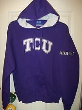 TCU Texas Christian Horned Frogs Purple White Hoodie Jacket Mens Size XL NWT