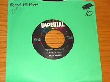 """RICKY NELSON 45 RPM - IMPERIAL 5663 - """"YOUNG EMOTIONS"""" + """"RIGHT BY MY SIDE"""""""