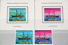 Madagascar MALAGASY 1987 1054-55 bloc 40-41 navires fishing boats ships MNH