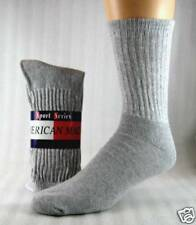 Mens athletic Crew Socks Gray  size 13-15  12 Pr