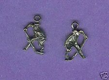 20 wholesale lead free pewter hockey player charms 1049