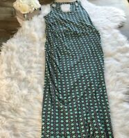 Banana Republic - Size M - Women's Blue Turquoise Cotton Maxi Dress Sleeveless