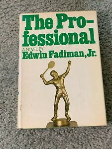1973 The Professional Hardcover Tennis Book with Dust Jacket Edwin Fadiman Jr