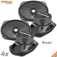 "4x Loud 6x9"" Car Speakers PRV 500 Watt 4 Ohm Midrange PRO Audio 69MR500-4 BULLET"