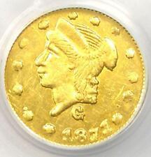 1871 Liberty California Gold Quarter 25C Coin BG-838 - NGC MS61 (BU UNC)