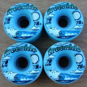 Free Ride Blue Wave Sector 9 Longboard/Cruiser Skateboarding Wheels 70mm 78a