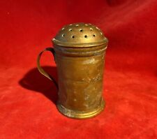 Civil War Officer'S Copper Writing Sander / Pounce Pot - Dries Ink After Writing