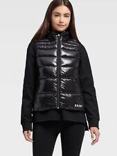 NWT $450 DKNY WOMEN/'S BOMBER LEATHER JACKET//VEST  Zs L