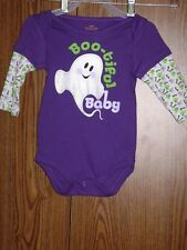 """HALLOWEEN """"BOO-TIFUL BABY"""" ONE PIECE LS  SIZE: 3-6 MONTHS"""