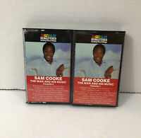 The Man and His Music by Sam Cooke Cassette 1986 RCA Tapes Music Lot Of 2