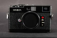 Minolta CLE M mount Rangefinder camera w leather pouch + handgrip-Exc++++ Leica