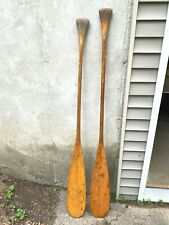 Vintage Pair of Maine Canoe Paddles