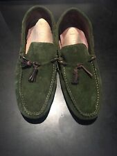 Coolest unbranded dark green loafers Size 44/UK9.5 Made in Spain