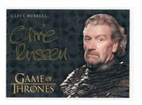 Game of Thrones Valyrian Steel Clive Russell as Ser Brynden Tully Gold Autograph