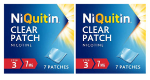 Step 3 Niquitin Clear 7 mg Nicotine Patches (1 Week Kit) - Pack of 2