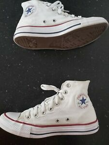 Converse All Star Hi Tops Trainers White Size 6.5