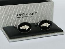 Mens Cufflinks - Horse Head Oval Design *New* Gift