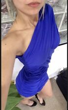 ⭐️ Womens NWOT ZIMMERMANN Brand Size 1 Blue One Shoulder Bodycon Dress⭐️