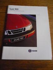 SAAB 900 ( INCL CONVERTIBLE) BROCHURE 1995