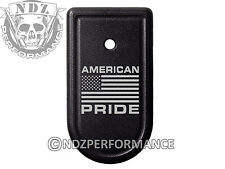 for Springfield Armory XDS 9mm 45ACP Magazine Mag Plate BK American Pride Flag