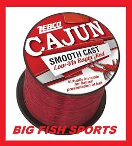 CAJUN LOW-VIS RAGIN' RED Fishing Line 8lb-1600yd 1/4LB SPOOL #CLLOWVISQ8C