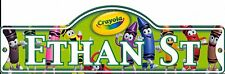 Crayola Street Sign Personalized ETHAN ST Kids Room Sign Stocking Stuffer