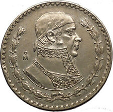 1957 Mexican Independence War HERO Jose Maria Morelos Peso Coin of Mexico i53628