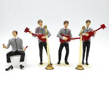Vtg The Beatles Figurines 6 Pc Set Wilton Cake Toppers Rock Band Plastic 1960's