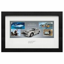 More details for james bond mounted and framed film series collectable stamps in miniature sheet