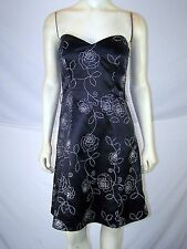 White House Black Market Floral Strapless Dress Womens Size 4 Small