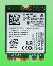 Original Intel Dual Band WirelesAC7265 Model7265NGW 802.11AC 867Mbp  NGFF 0K57GX