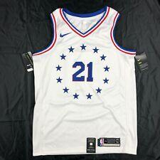 Nike Philadelphia 76ers Joel Embiid City Swingman Jersey White Blue Men's S-XXL