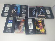 Arnold Schwarzenegger 5 VHS Lot Terminator  True Lies Total Recall
