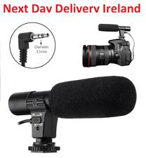 3.5mm External Stereo Microphone Mic For Nikon DSLR Camera DV Camcorder