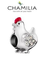 Genuine CHAMILIA 925 silver & Swarovski HEN PARTY charm bead, hen night, chicken